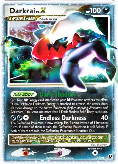 Carta pokemon darkrai livello
