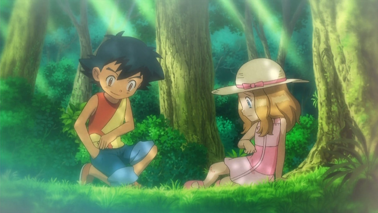 pokemon ash and serena first meet