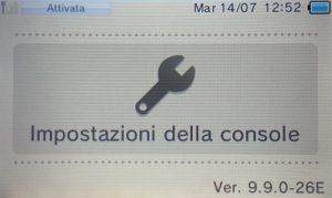 Aggiornamento 3DS Ver. 9.9.0-26