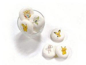 Marshmallow ripieni di cioccolato raffiguranti Pokémon.