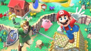 288213_Papel-de-Parede-Mario-Kirby-e-Link-Super-Smash-Bros_600