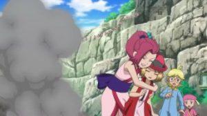 Pokémon XY&Z006 ~ Serena e Shinobu poco prima di essere legate