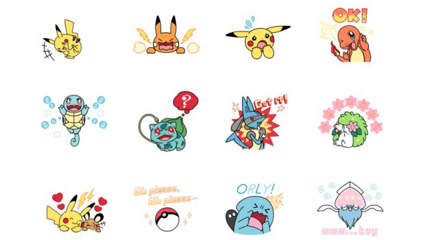 Stickers Pokémon Line 01