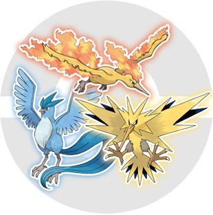 Uccelli leggendari di Kanto - Pokémon Scrap