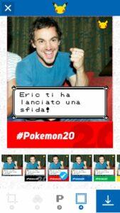 Cabina fotografica Pokémon screen
