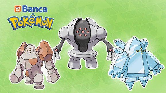 Regirock, Regice e Registeel disponibili per i possessori della Banca Pokémon!