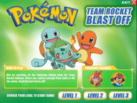 Pokémon Team Rocket Blast off