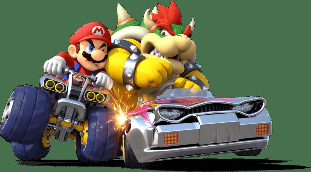 bowser in Mario Kart