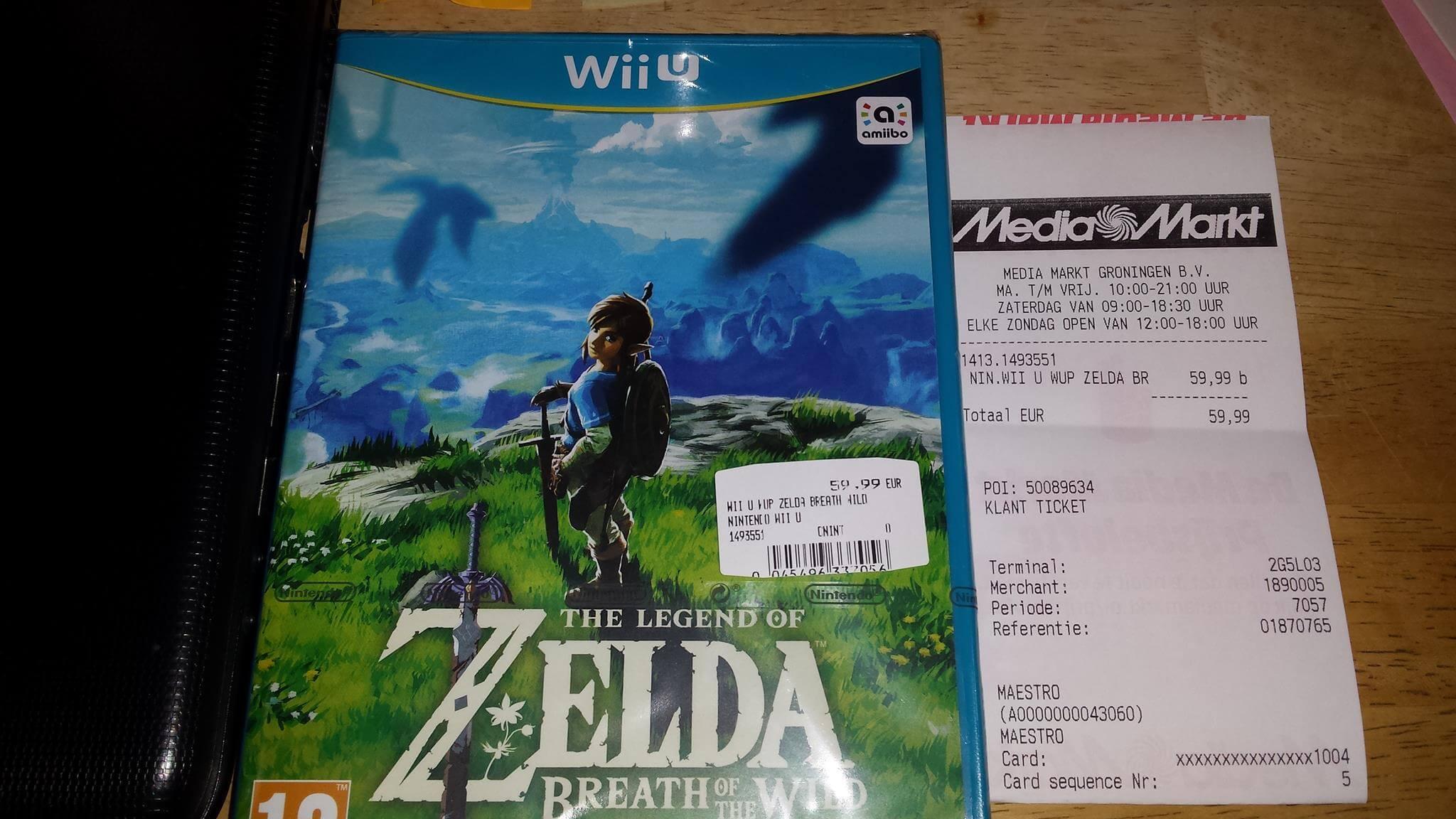 Zelda breath of the wild game wii u