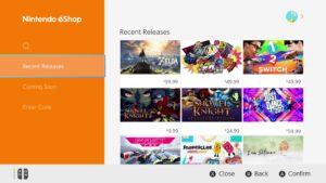 Nintendo eShop di Switch