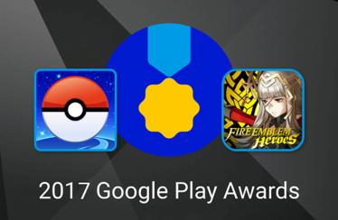Pokémon GO e Fire Emblem Heroes ottengono una nomination ai Google Play Awards 2017