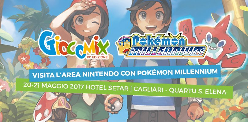 Pokémon Millennium e Cydonia ti aspettano al Giocomix di Cagliari il 20 e 21 maggio!