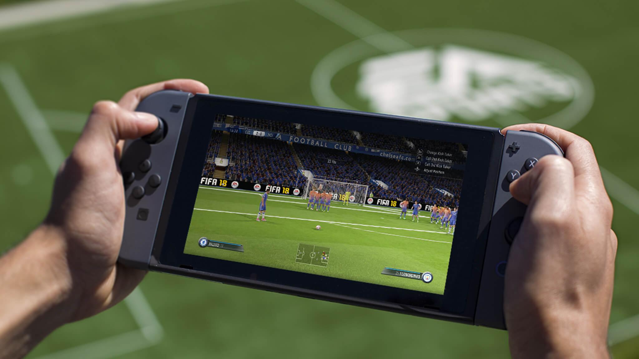 Le vendite di FIFA 18 per Nintendo Switch sono cresciute del 494% nell'ultima settimana