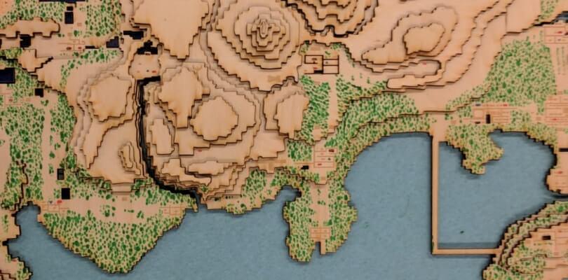 Ecco la rappresentazione 3D in legno delle regioni di Kanto e Johto