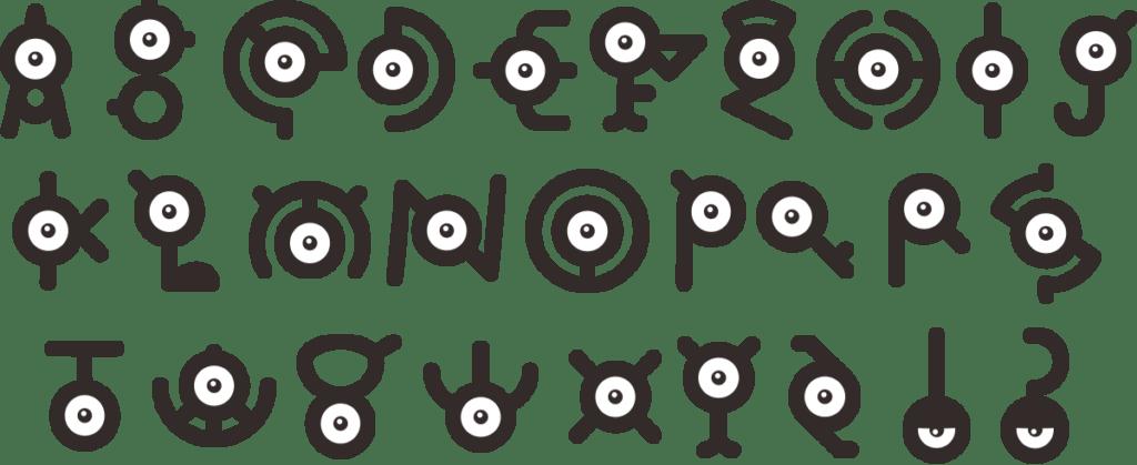 Elenco degli Unown