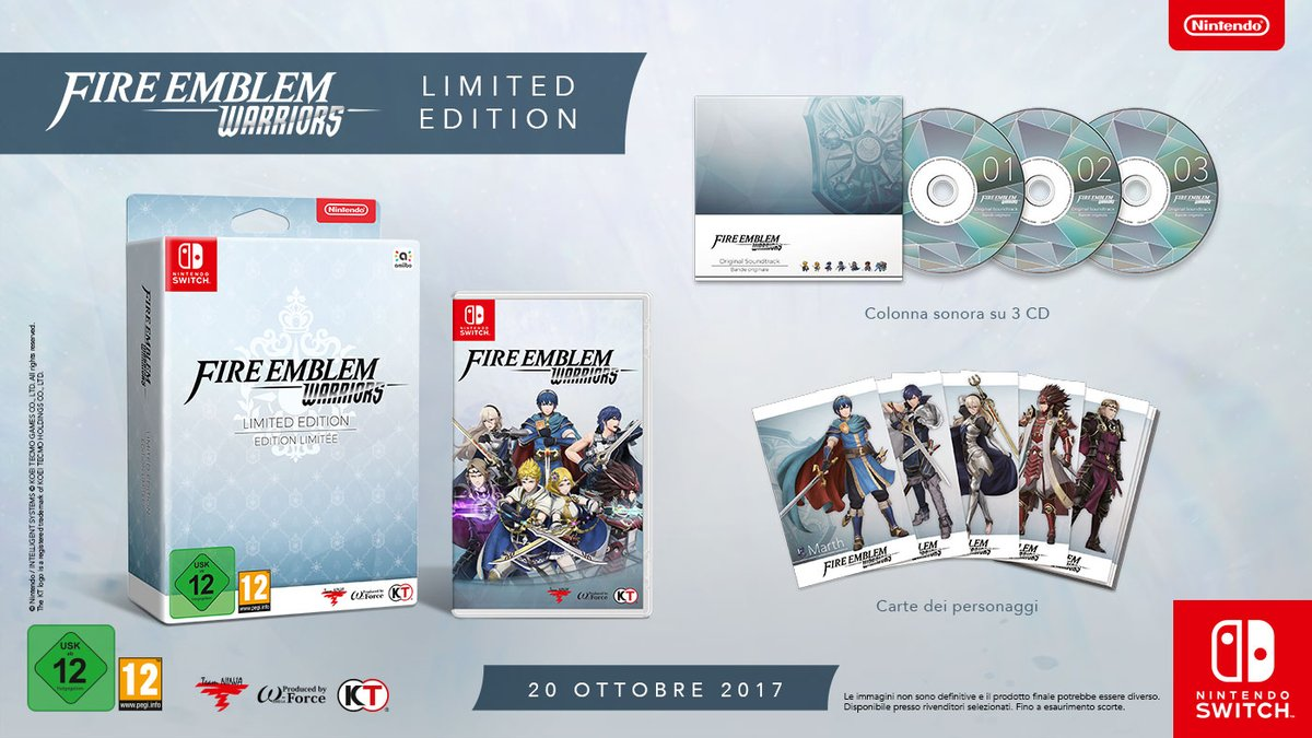 Limited Edition per Fire Emblem Warriors in versione Switch