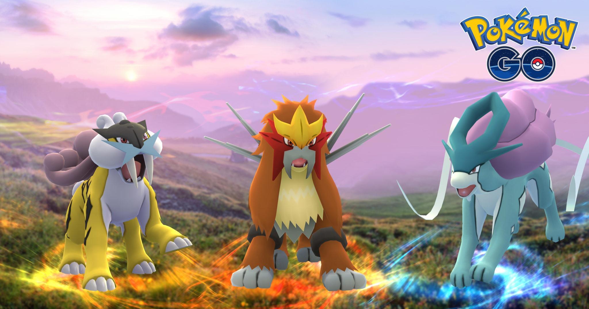 Pokémon GO: da stasera arrivano Entei, Suicune e Raikou