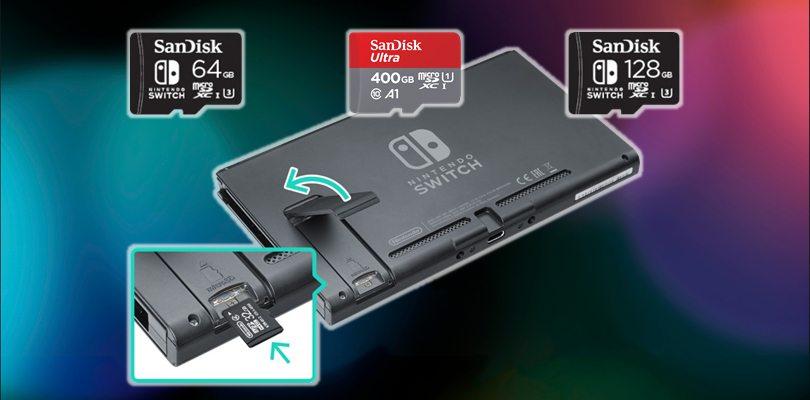MicroSD obbligatoria per alcuni titoli Switch, ma SanDisk ha la soluzione