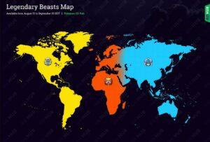 mappa bestie leggendarie