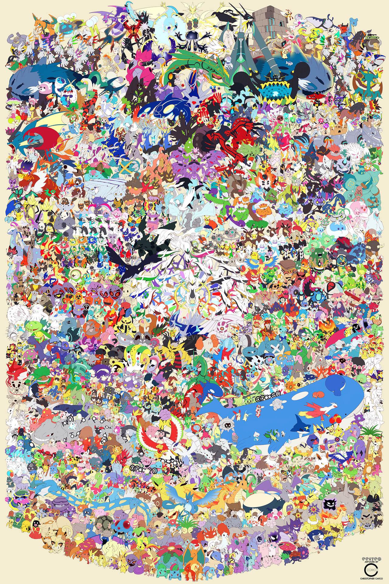 huge discount 1c126 7669b 807 Pokémon in un disegno: ecco il capolavoro di Christopher ...