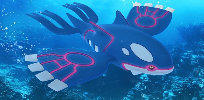 Disponibile il leggendario Kyogre nei Raid di Pokémon GO: tutto quello che c'è da sapere