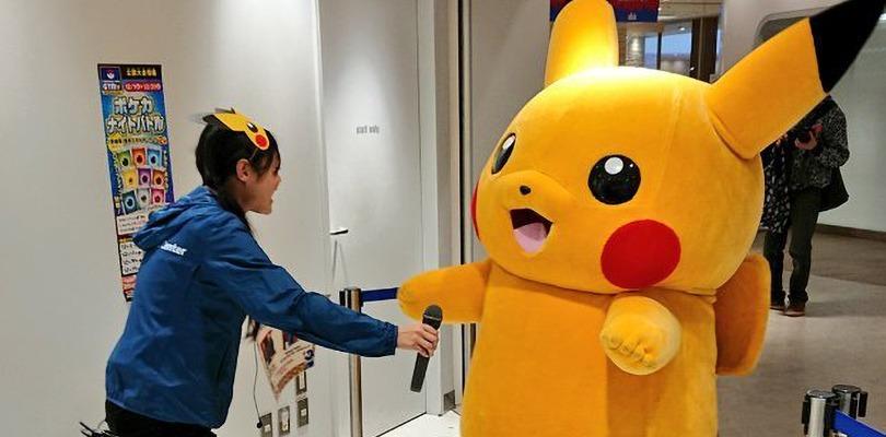 Pikachu salta di gioia per festeggiare il nuovo anno