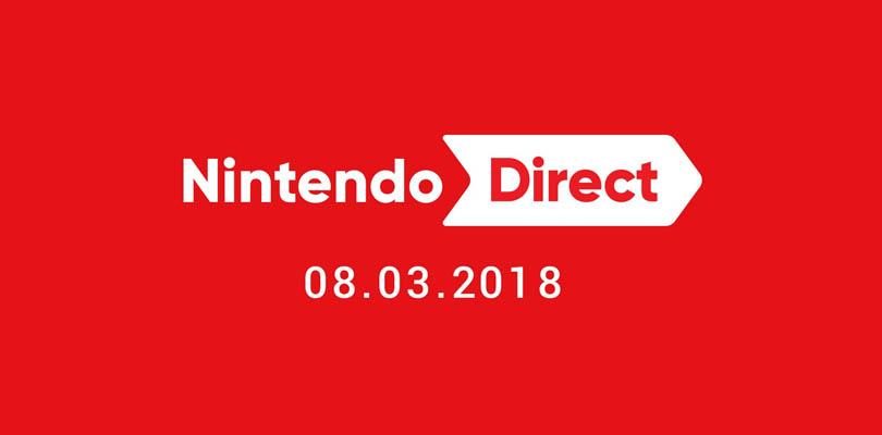 Annunciato un nuovo Nintendo Direct per l'8 marzo 2018