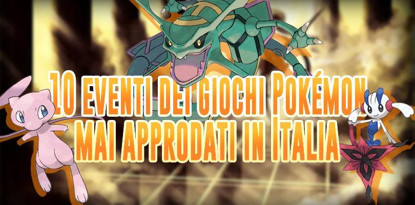 10 eventi del mondo Pokémon mai approdati in Italia