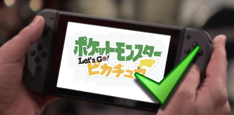 Registrati ufficialmente i domini di Pokémon Let's Go! Pikachu e Let's Go! Eevee