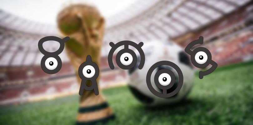 Tanti Unown stanno apparendo su Pokémon GO in Sud America in occasione dei Mondiali FIFA 2018