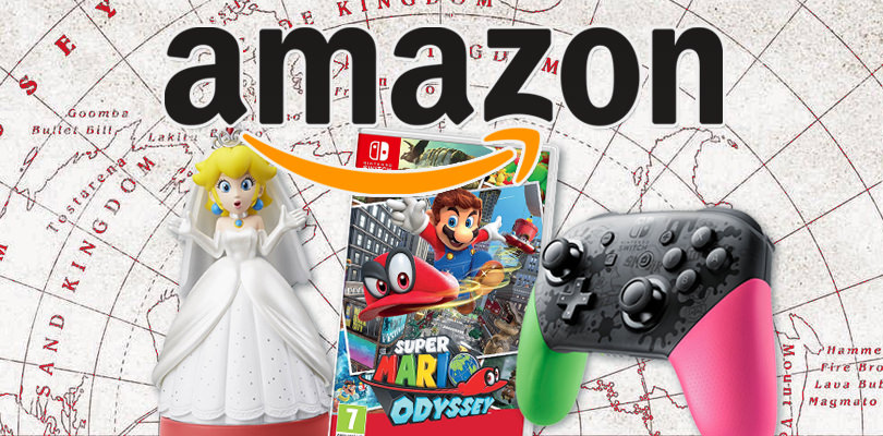 Super Mario Odyssey, il Pro Controller di Splatoon 2, l'amiibo di Peach e tanto altro in offerta su Amazon