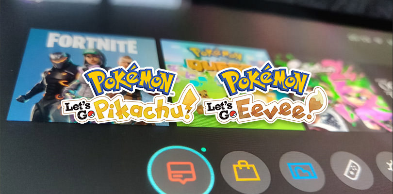 Mostrate le icone del menu HOME di Pokémon: Let's Go, Pikachu! e Let's Go, Eevee!