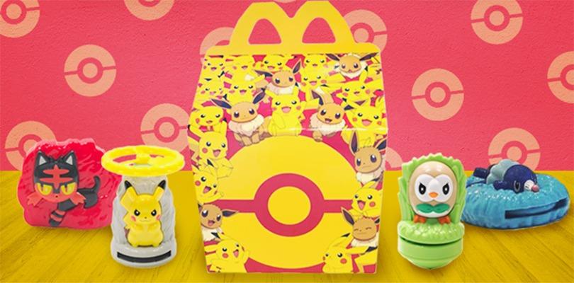 Sono arrivate nuove sorprese dei Pokémon negli Happy Meal in Giappone