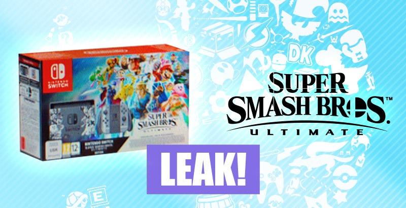 Trapelato il bundle di Nintendo Switch e Super Smash Bros. Ultimate?
