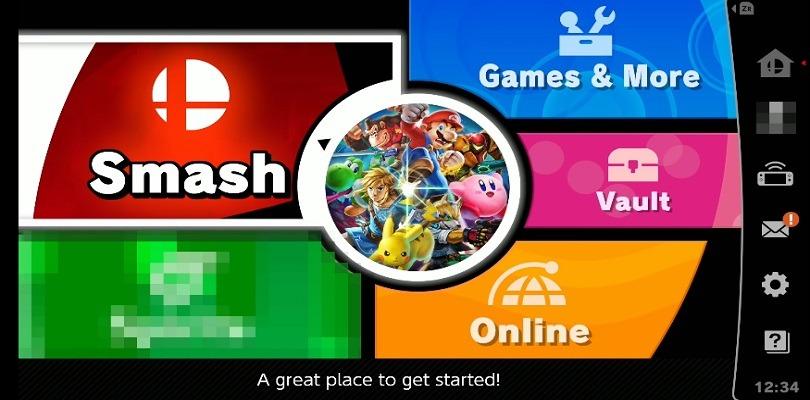 Ecco il menù principale di Super Smash Bros. Ultimate con una modalità misteriosa