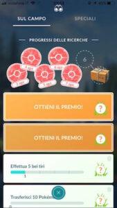 ricerche sul campo Pokémon GO