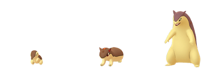 Cyndaquil, Quilava e Typhlosion cromatici