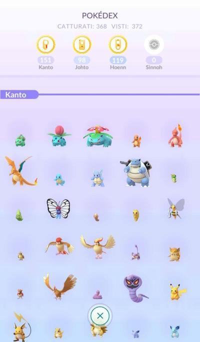 Pokédex Pokémon GO Sinnoh