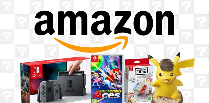 Mario Tennis Aces, Nintendo Switch, l'amiibo di Detective Pikachu e tanto altro in offerta su Amazon