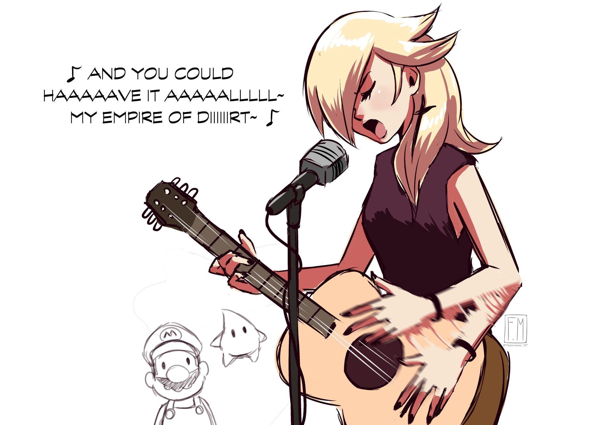 fan art di rosalinda chitarrista