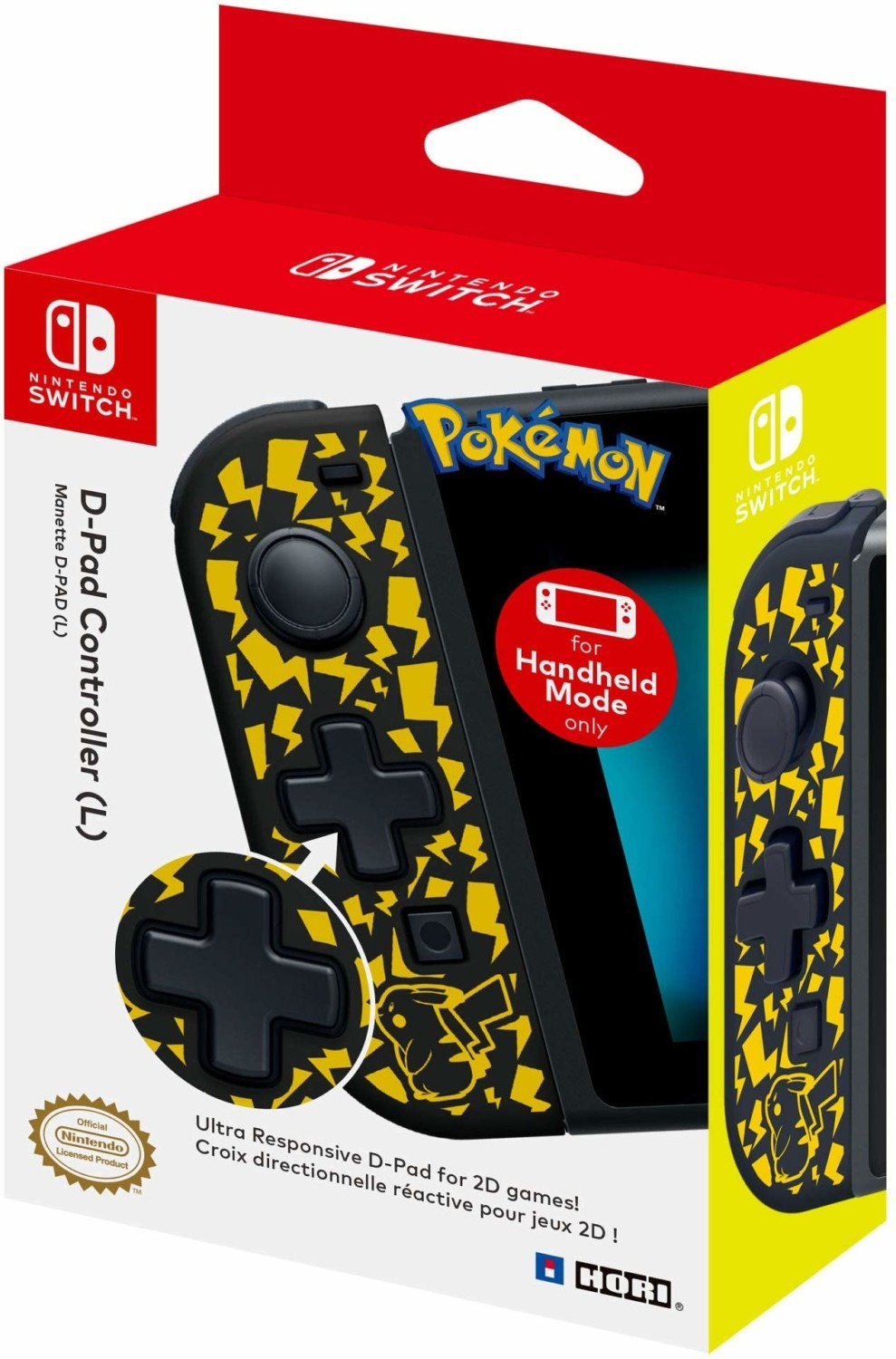 joy-con di pikachu by hori