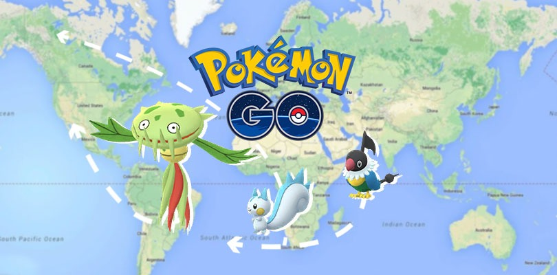 Pokemon go chatot region