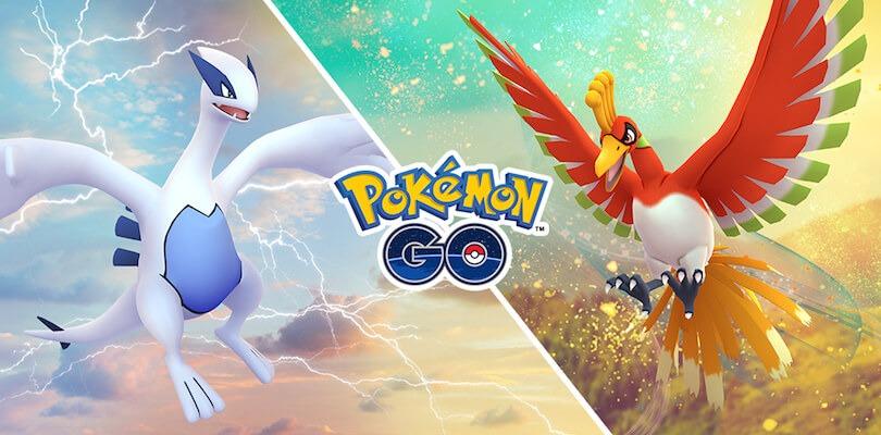 Lugia e Ho-Oh arrivano nelle ricerche settimanali di gennaio e febbraio su Pokémon GO