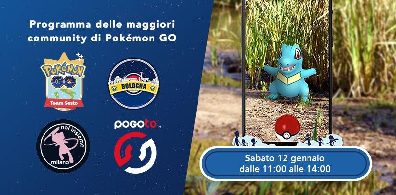 Annunciati gli eventi delle community italiane di Pokémon GO per il Community Day di Totodile