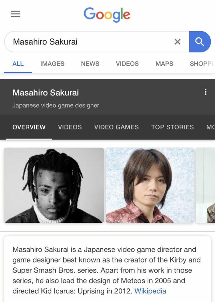 Sakurai XXXTentacion google