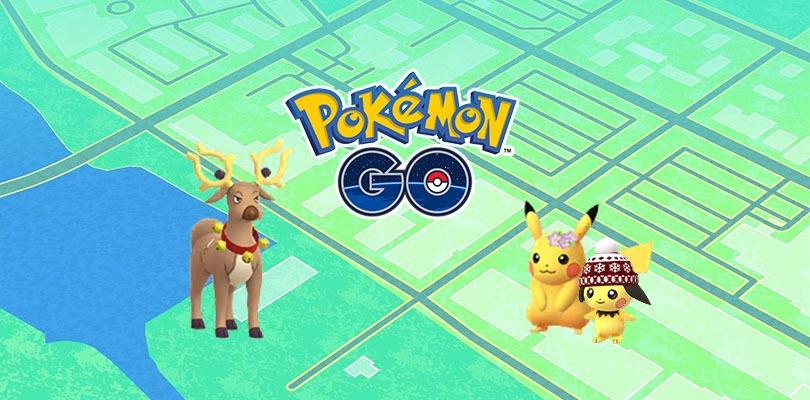 Scoperti nuovi costumi di Stantler, Pikachu e Pichu nei server di Pokémon GO