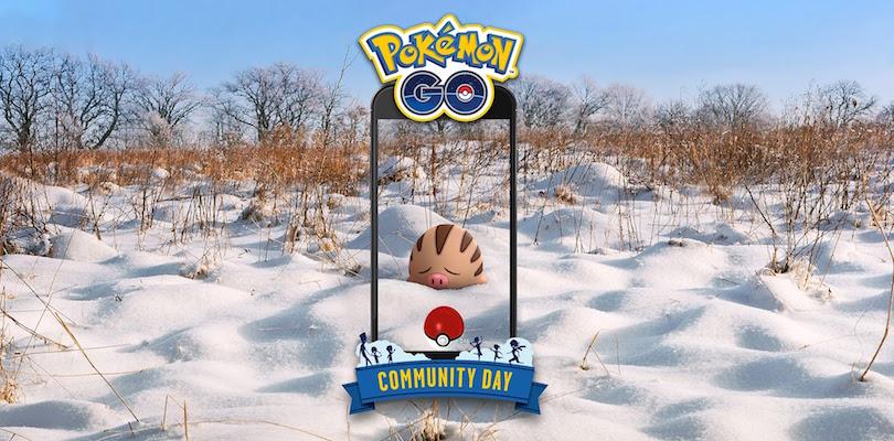 Swinub sarà il protagonista del Pokémon GO Community Day di febbraio