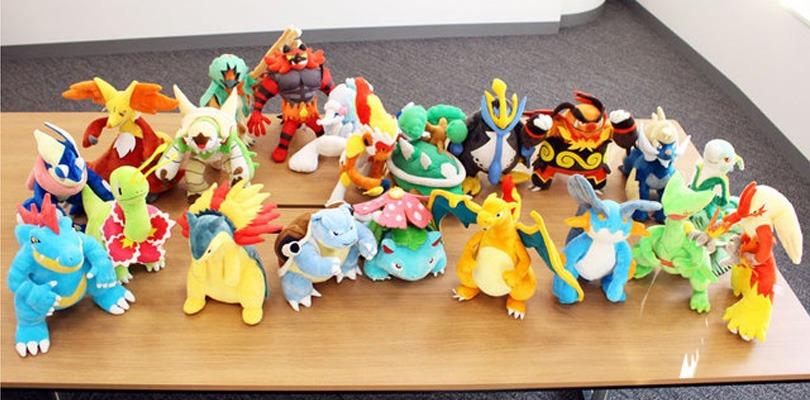 Ecco i nuovi peluche dedicati all'ultima evoluzione dei Pokémon iniziali