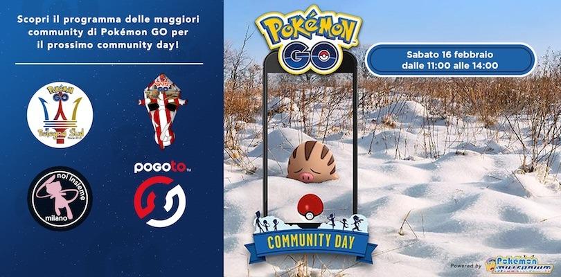 Annunciati gli eventi delle community italiane di Pokémon GO per il Community Day di Swinub