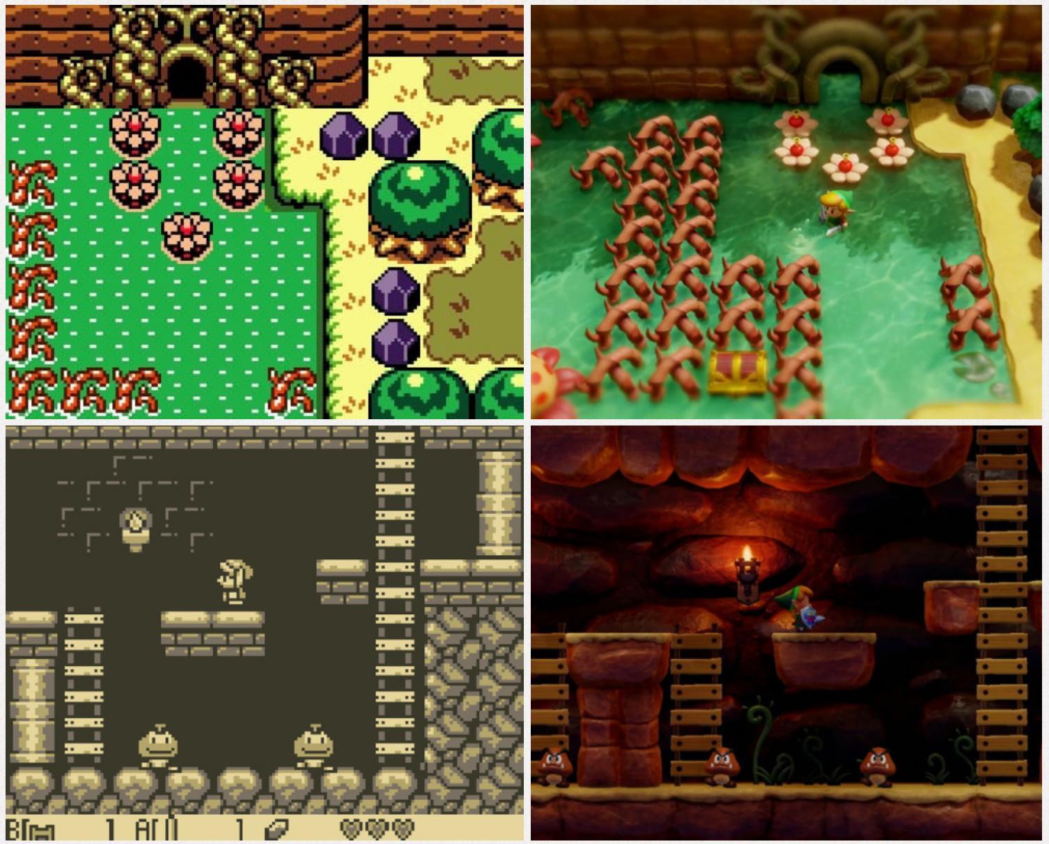The Legend Of Zelda Link S Awakening First Comparative